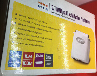 £15 • Buy PLANETFPS-1101 Direct Attached 10/100Mbps Fast Ethernet Print Server (New)