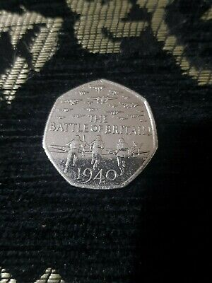 The Battle Of Britain Rare 50p Fifty Pence Coin (2015), Circulated & Genuine. • 800£
