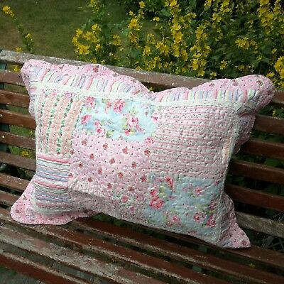 Patchwork Pillowcase Country Vintage Traditional Style Pillow Sham Cotton Lace • 25.95£