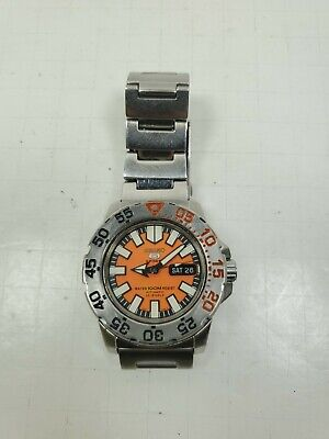 $ CDN273.39 • Buy Seiko 5 SNZF49 Automatic Baby Orange Monster Watch Diver 7S36-03D0
