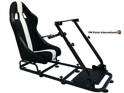 Car Gaming Racing Simulator Chair Bucket Seat Gift For PC PS5 XBox Black White • 255£