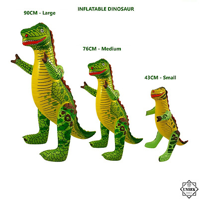 £4.70 • Buy S,M,L INFLATABLE DINOSAUR Blow Up Fancy Dress Night Party Kids Dino Decor Toy UK