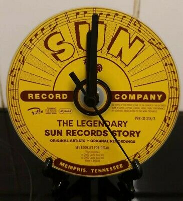 Sun Records Upcycled Cd Clock  • 7.99£