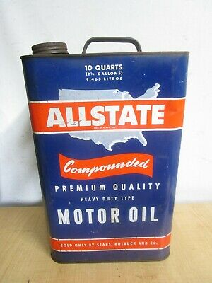 $ CDN46.12 • Buy Vintage 2 1/2 Gallon   Allstate Oil Can ADVERTISING GREAT GRAPHICS ESTATE FIND