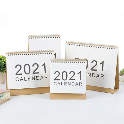 New 2020-2021 Desk-Top Flip Calendar Week To View Stand Up Office Home Planner • 4.99£