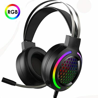 AU34.68 • Buy Game RGB Gaming Headset Headphones 7.1 Surround Sound For PC Laptop PS4 Xbox One