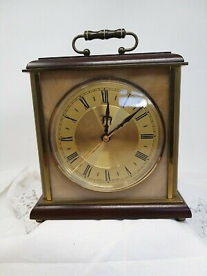 Vintage 70s Metamec Heavy Marble And Brass Style Carriage Clock Kundo Mechanism • 20£