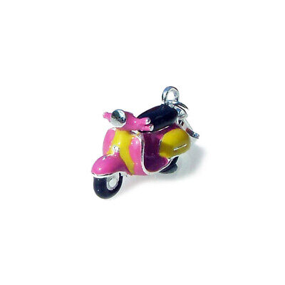 £23.50 • Buy NEW Vespa Scooter Motorbike Charm With Clasp Sterling 925 Silver 3D Enamel
