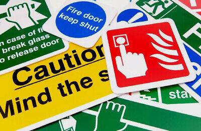 £5.99 • Buy Coshh Health And Safety Stickers Mounted Workplace Posters  Office Shop Factory