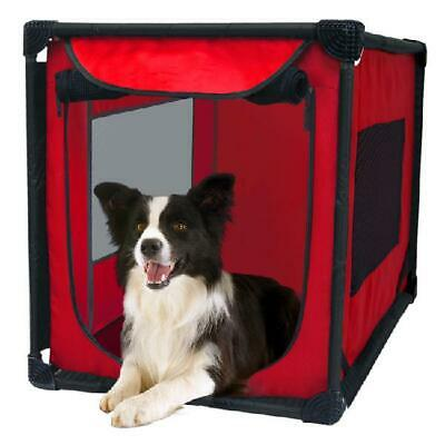 $50.50 • Buy Portable Dog Kennel Soft Sided Pet Pooch Crate Travel Carrier House Bed Large