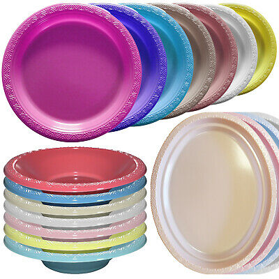 £11.39 • Buy Essential Thermoformed Reusable Plastic Party BBQ Plates Bowls Serving Platters
