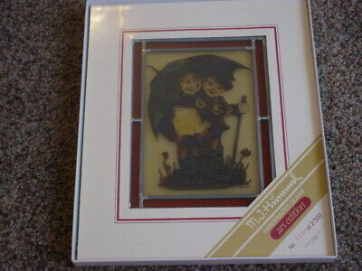 $9.99 • Buy M J HUMMEL - Painted Glass - STORMY WEATHER - GUC - Size 6.5  X 8  - # 2394