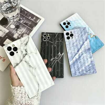 AU10.95 • Buy Square Marble Phone Case For IPhone 11 Pro Max XR X XS Max 7 8 Plus SE 12 Pro