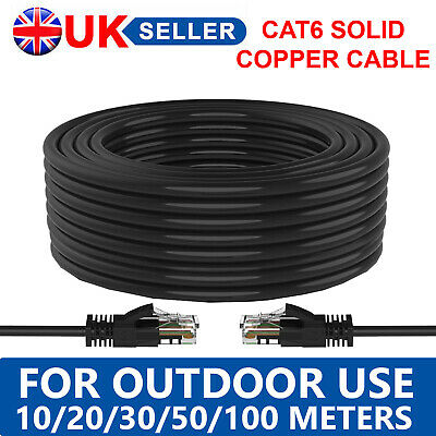 £20.85 • Buy 10/20/30/50/100 Meters Cat6 External Utp Ethernet Network Copper Cable Outdoor