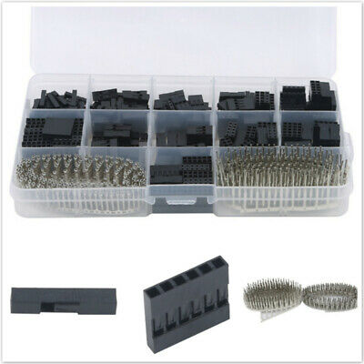 AU11.67 • Buy 620PCS 2.54mm Dupont Crimp Pin Connector Header Jumper Wire Terminal Tool Kit MA