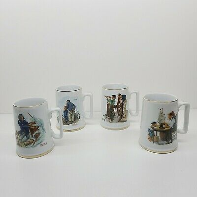 $ CDN38.31 • Buy Vintage Norman Rockwell Museum Coffee Mugs Cups Steins Set Of 4 Sea Nautical