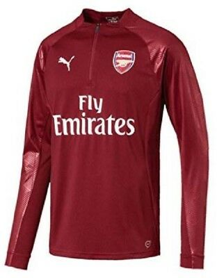 Arsenal Puma Mens Training Sweatshirt Red 1/4 Zip Football Track Jacket 2017-18 • 21.99£