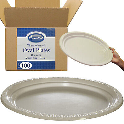 £26.19 • Buy 100x Large Deep 12  Christening Dinner Party Buffet Serving Platters Plates 33cm
