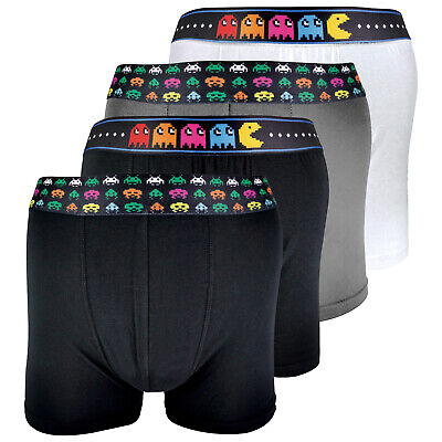 SOCK SNOB - 4 Pack 100% Cotton Mens Soft Funky Vintage Retro Gaming Boxers • 12.99£