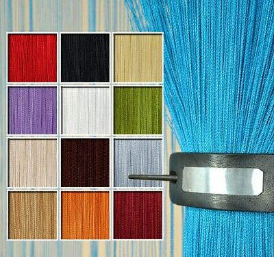 New String Curtain Panels - Door Fly Screen & Room Divider - Voile Net Curtains • 4.99£