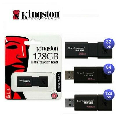 AU9.75 • Buy Kingston USB 3.0 Flash Drive 32GB 64GB 128GB DataTraveler Memory Stick Pendrive