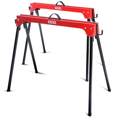 Excel Trestle Saw Horse Twin Pack With Handles 500KG Max Load • 32.99£