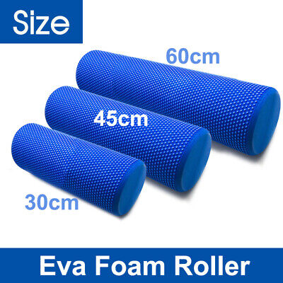 AU14.99 • Buy 30/45/60x15cm EVA PHYSIO FOAM AB ROLLER YOGA PILATES EXERCISE BACK GYM MASSAGE