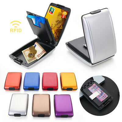 Business Non-scan Metal Anti-Theft Money Clip Coin Purse Card Case RFID Wallet • 5.95£
