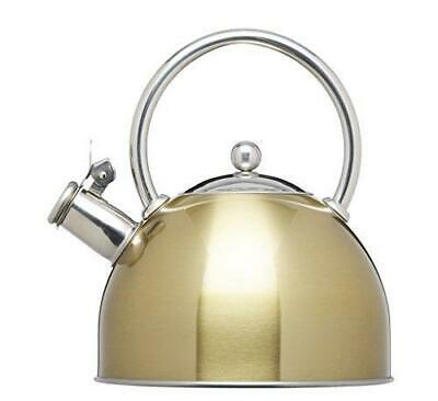 KitchenCraft Le'Xpress Induction Stove Top Whistling Kettle Brass Finish 1.4 L • 21.99£