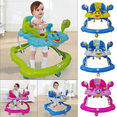 Baby Walker First Steps Push Along Bouncer Activity Music Ride On Toy Car Music • 28.45£