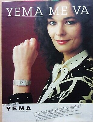 AU4.89 • Buy Page Of Advertising/Watches / Yema IN 1982 / Ref. 68063