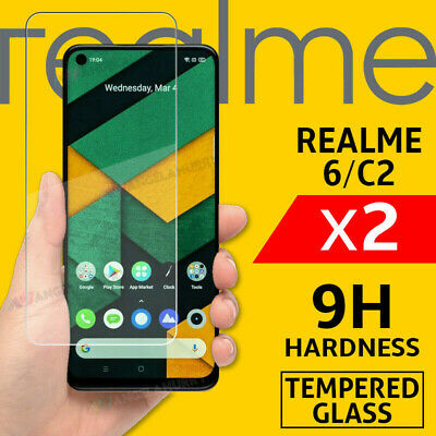 AU4.98 • Buy 2pcs Tempered Glass For Realme 6 C2 Screen Protector 9H Coverage Film AU STOCK
