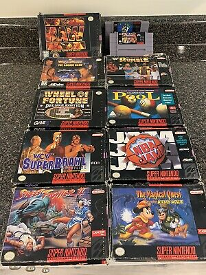 $ CDN239 • Buy Super Nintendo Snes Games Lot Of 11. Box Manual Inserts