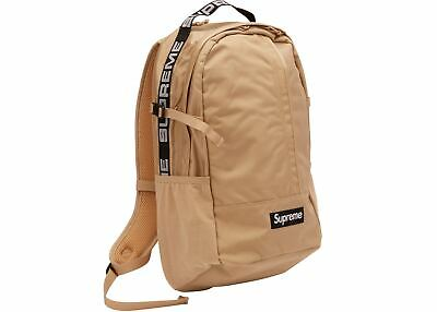 $ CDN516.48 • Buy Supreme Backpack Tan SS18 Black Summer 100% Authentic SS19 SS20 Bag