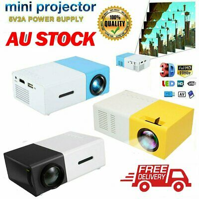 AU58.90 • Buy 2020 Mini Pocket LED Home Cinema Projector HD 1080P Portable Cinema HDMI USB 9B