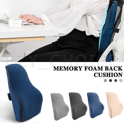 AU19.99 • Buy Memory Foam Lumbar Back Pillow Cushion Chair Support Home Car Office Relax Seat