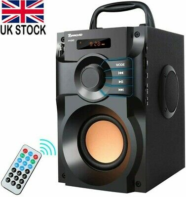 £34.75 • Buy Portable Bluetooth Speaker Wireless Stereo Bass Subwoofer With FM Radio Remote