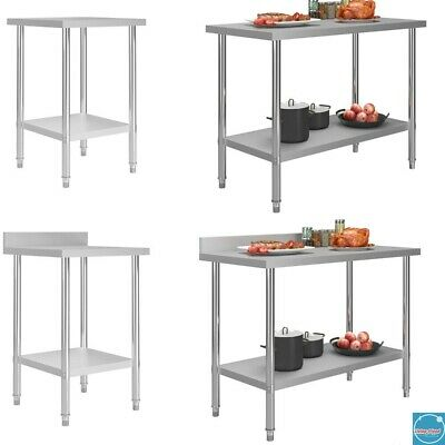 Kitchen Catering Table Commercial Prep Work Bench Dissecting Top Stainless Steel • 103.29£