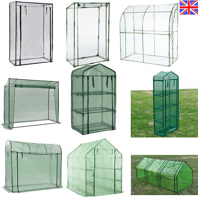 Large Mini Plant Greenhouse PVC Plastic Garden Grow Green House W/ Shelf & Door • 35.74£