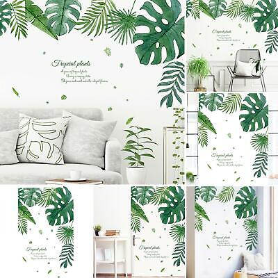 Tropical Monstera Leaf Wall Sticker Poster Living Room Background Decal Smart • 3.72£