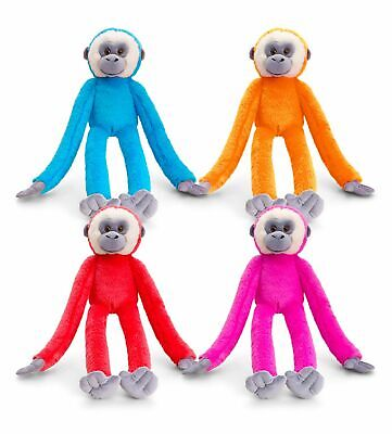 Large 65cm Keel Colourful Hanging Monkey In 4 Colours To Choose From Soft Cuddly • 10.99£