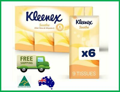 AU8.95 • Buy 6 Pack Kleenex Facial Tissues 9 Pocket Aloe Vera And Vitamin E FREE Shipping AU