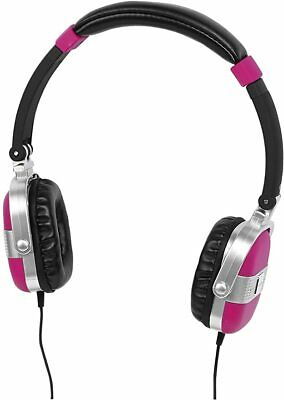 Aircoustic Retro-Style Headphones - Pink - New In Box. • 14.95£