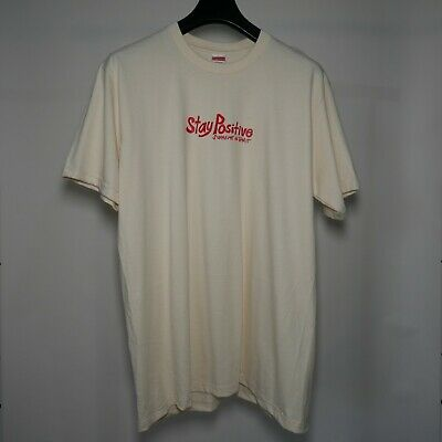 $ CDN114.85 • Buy Supreme Stay Positive Tee Natural Large Box Logo T-Shirt Hypebeast New DS