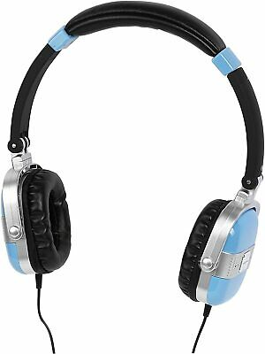 Aircoustic Retro-Style Headphones - Blue - New In Box. • 14.95£