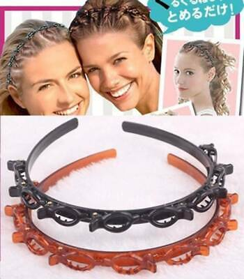 $7.98 • Buy Womens Hair Accessories Twist Clips Headband With Toothed Headband Braid Tool Sd