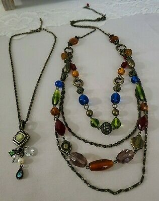 $ CDN17.53 • Buy Lot Of 2 Retired Lia Sophia Multi Strand Necklaces