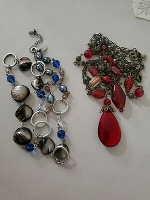 $ CDN17.53 • Buy Lot Of 2 Retired Lia Sophia Chunky Multi Strand Necklaces