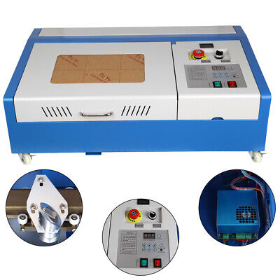40W CO2 Laser Engraver Cutter Engraving Cutting Machine 300*200mm LCD Display CE • 274.85£
