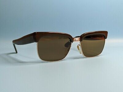 Vintage 50s Gold Filled Rodenstock Remo Rectangular Sunglasses Made In Germany  • 90£